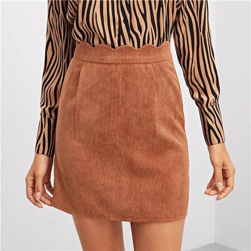 YOU'RE JUST FOR ME Brown Skirt - OutFancy