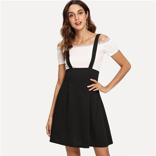 WORK WITH ME Flare Pinafore Skirt
