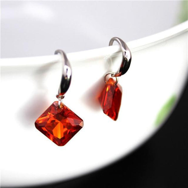 Uloveido Crystal Women Drop Earings - outfancy