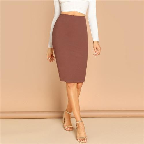ALMOST SHOWTIME Bodycon Midi Skirt - OutFancy