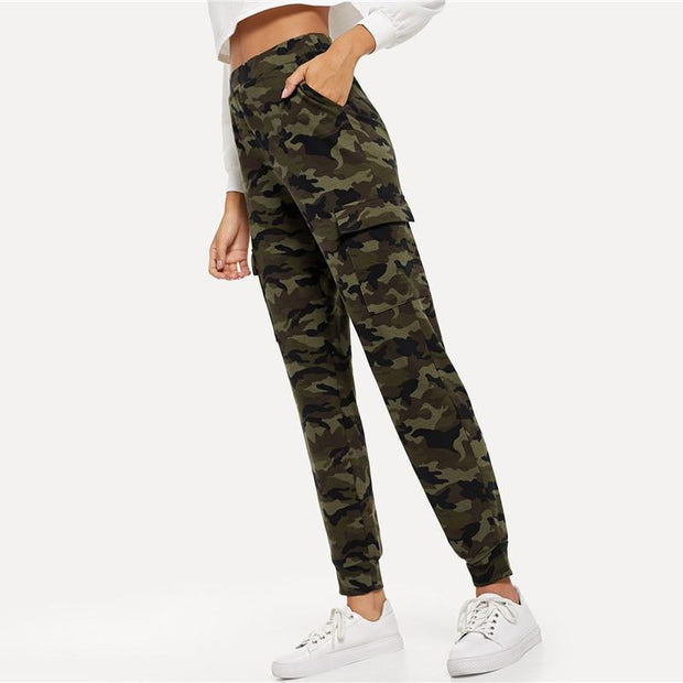 JUMP IN THE RING Camo Pants - OutFancy