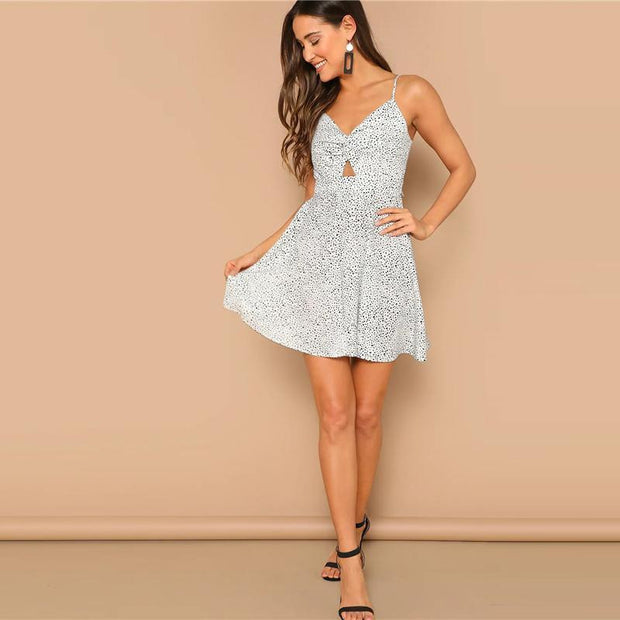 Glamorous Polka Dot Cami MINI Dress - OutFancy