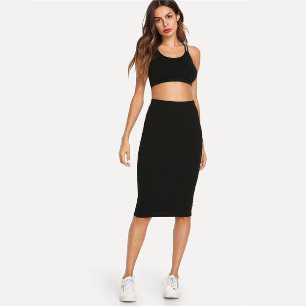 AFFORD MY LOVE Bodycon Skirt - OutFancy