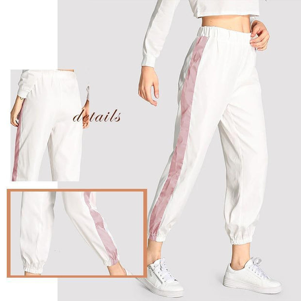 MAKE YOU REMEMBER Tape Side Pants - OutFancy