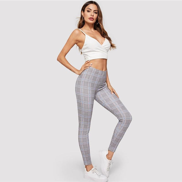 RIDE OR DIE Glen Plaid Leggings - OutFancy