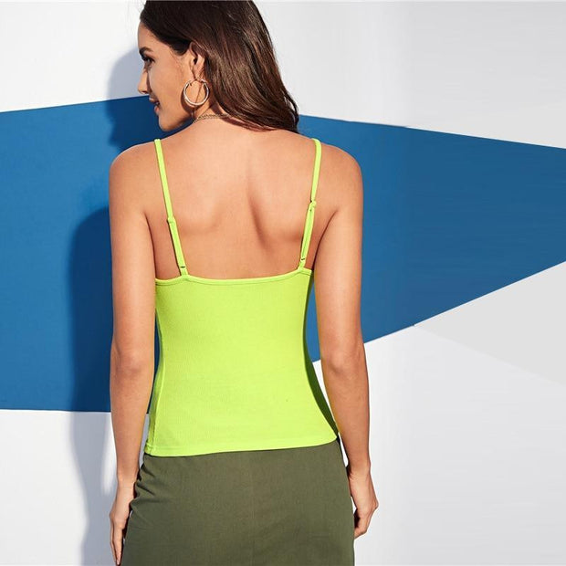 CRY ME A RIVER  Neon Lime Cami Top - OutFancy