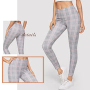 ON THE DAILY Plaid Leggings - OutFancy