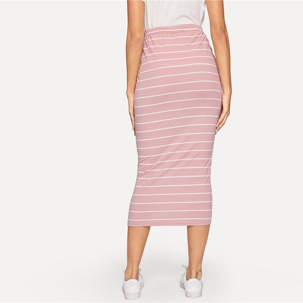 PERFECT MATCH Pink Bodycon Skirt - OutFancy