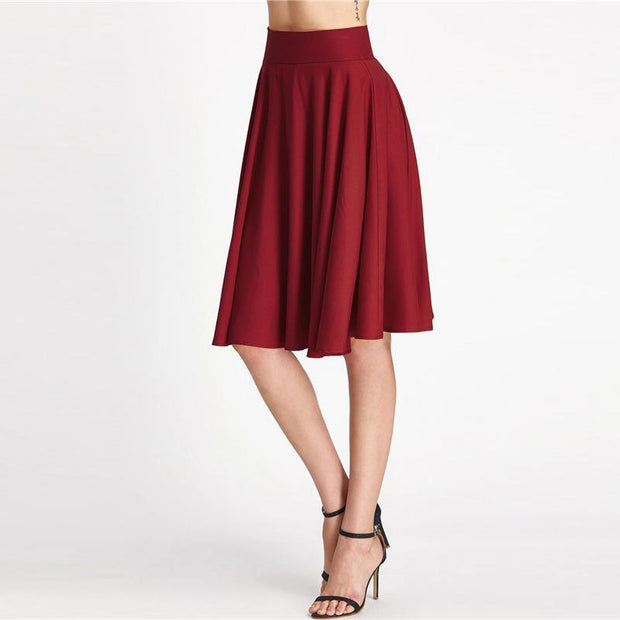LEADING THE WAY Waistband Skirt - OutFancy