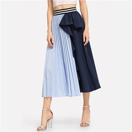 KEEPING IT FUN Colorblock Skirt - OutFancy