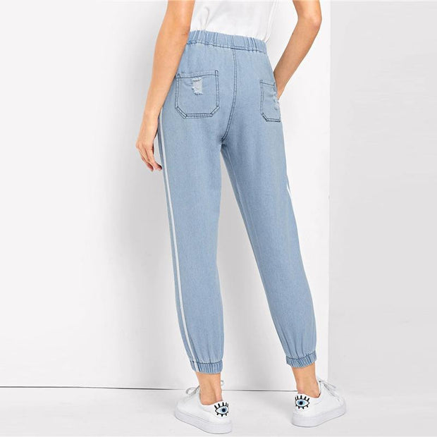 HIT THE FREEWAY Ripped Jeans - OutFancy