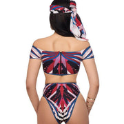 ROYAL BEACH Off Shoulder African Bikini - OutFancy