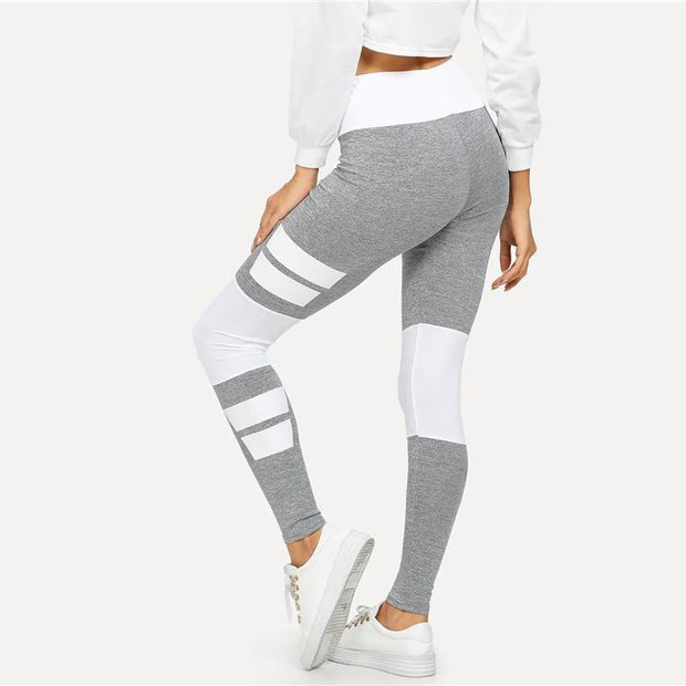 MY NUMBER ONE Colorblock Leggings - OutFancy