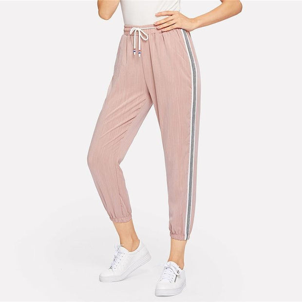 BORN THIS WAY Pink Striped Pants - OutFancy