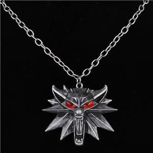 Woman Pendant Wolf Head Necklace Jewelry - OutFancy