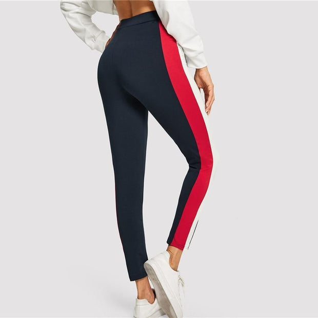 BORN THIS WAY Colorblock Pants - OutFancy