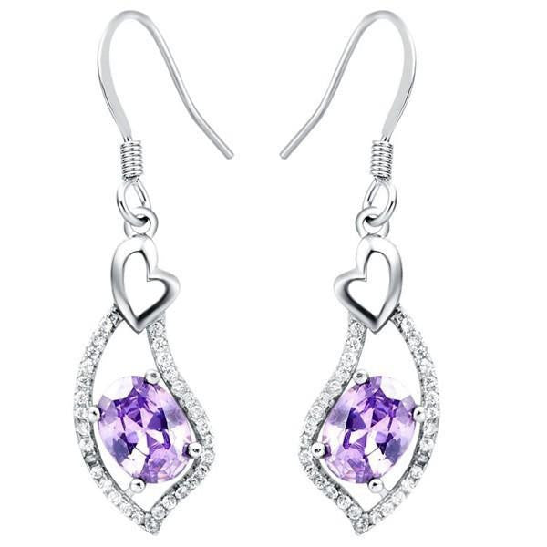 Women Cubic Zirconia Long Earrings