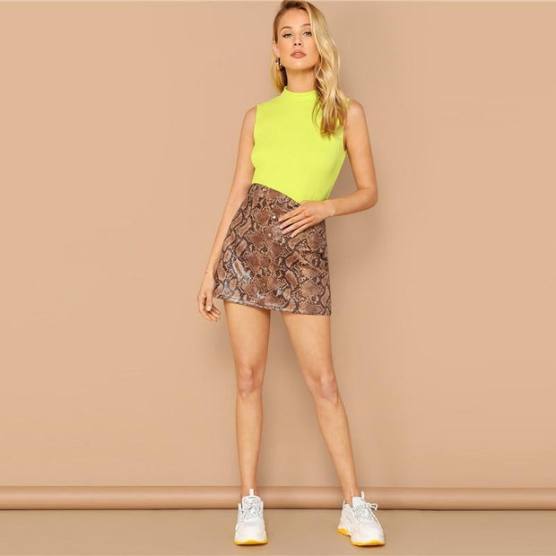 JUST HAVING FUN Neon Sleeveless Top - OutFancy
