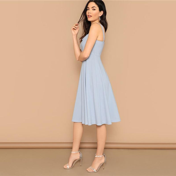 OutFancy Elegant Back Fit MIDI Dress - outfancy