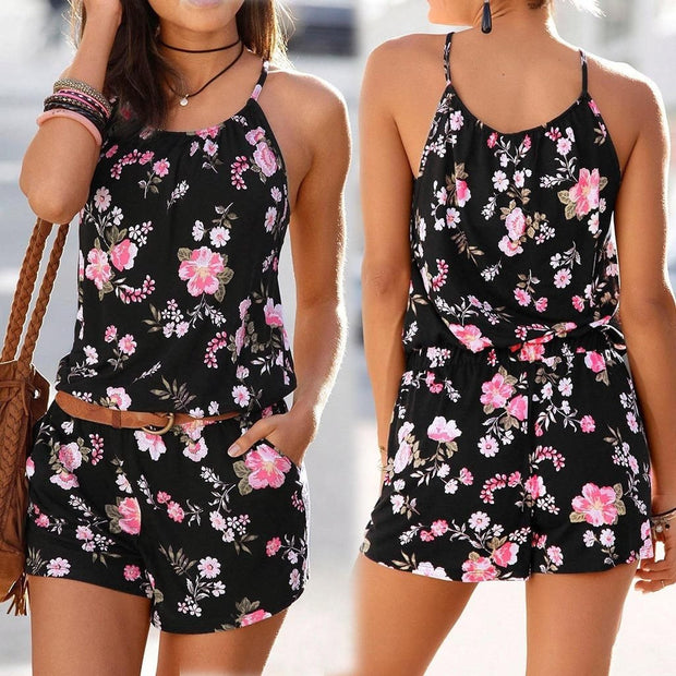 WHERE THE SUN SHINES FLORAL ROMPER - OutFancy