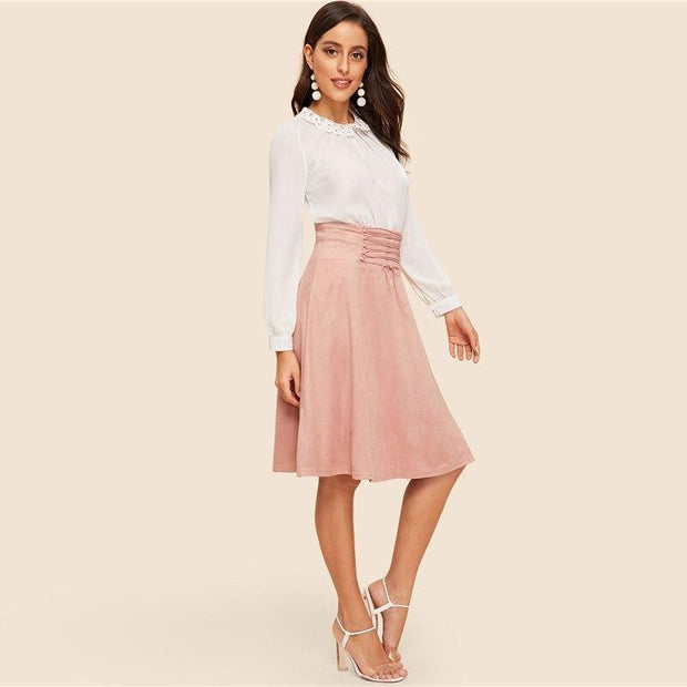 SWEET NOTHINGS Pink Vintage Skirt - OutFancy