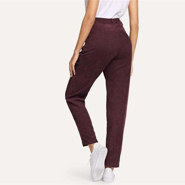 TAKE A GUESS Burgundy Corduroy Pants