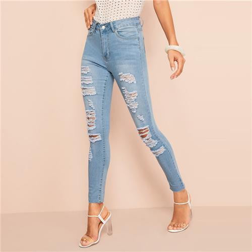 TELL ME IF YOU LIKE IT Ripped Jeans - OutFancy
