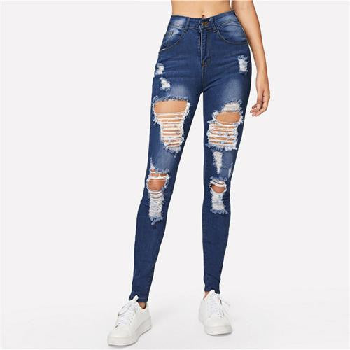 MISS INDEPENDENT Ripped Jeans - OutFancy