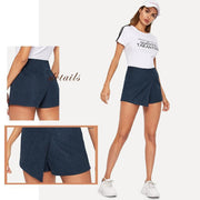 BEAUTIFUL LIAR Navy Wrap Skort - OutFancy
