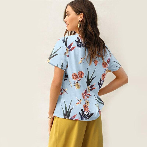 YEAR ROUND VACATION Botanical Tee