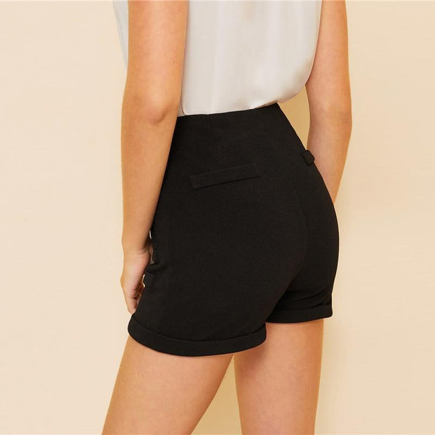 LOVE ON TOP Double Buttoned Shorts - OutFancy