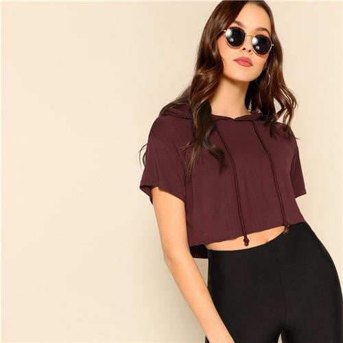 LIVE YOUNG Hooded Crop Top - OutFancy