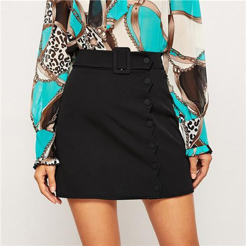 YOUR ALL I WANT Buttoned Mini Skirt
