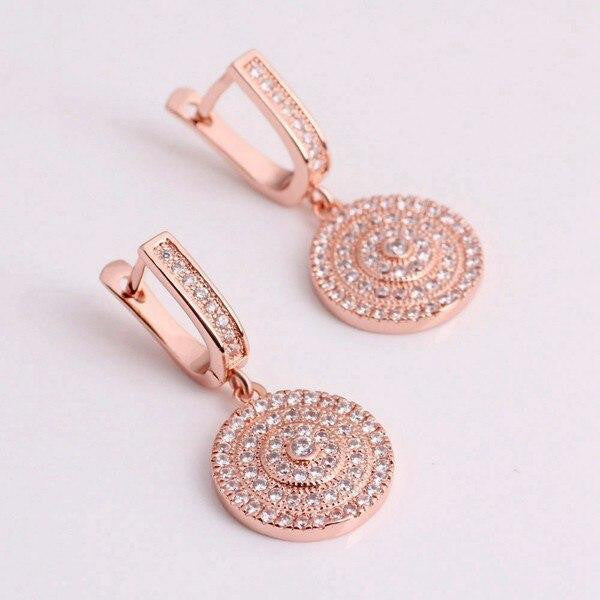 Women Long Crystal Dangle Earrings