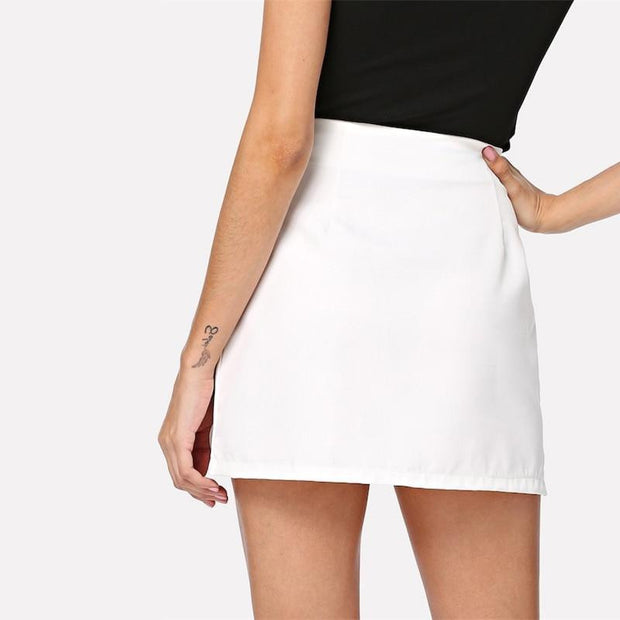 A SIMPLE THING Zip Up Skirt - OutFancy
