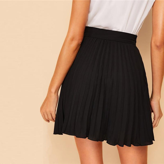 MADE YOU LOOK Casual Pleated Chiffon Skirt - OutFancy