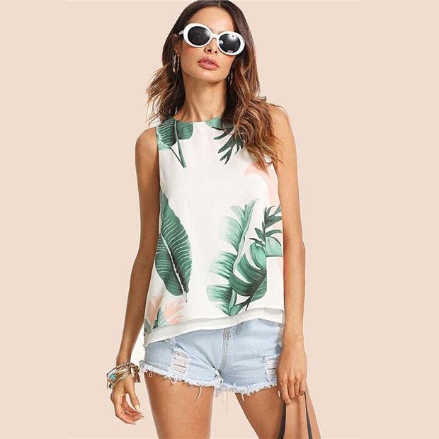 THINKIN' BOUT YOU Tropical Top - OutFancy
