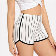 DOUBLE THE FUN Skinny Shorts - OutFancy