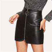 TIED SCHEDULE Zip Up Skirt - OutFancy