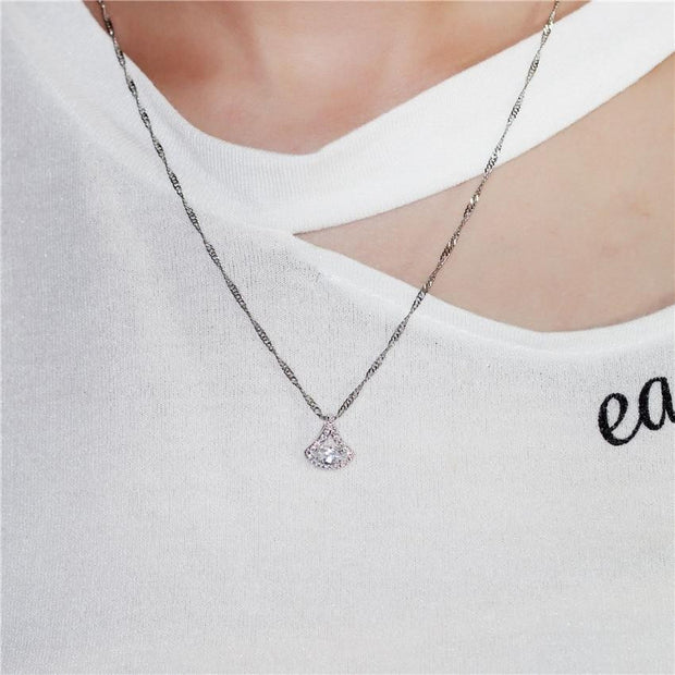 Women Triangle Shell Shape Necklace - OutFancy