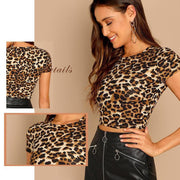 WILD BABY  Leopard Print Tee - OutFancy