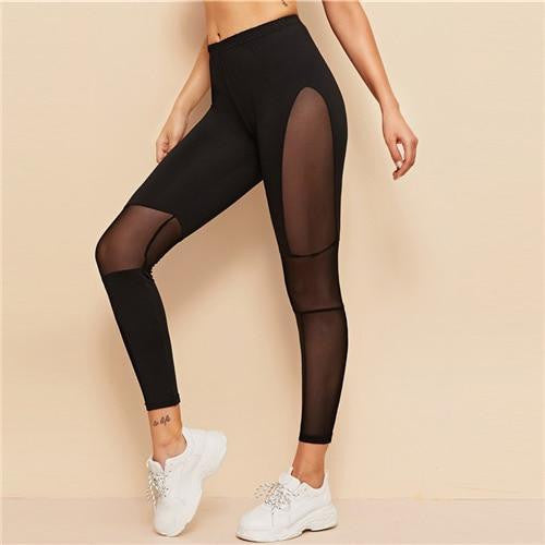 MY NUMBER ONE Mesh Leggings - OutFancy