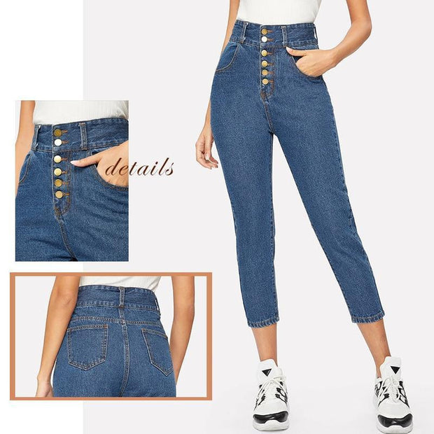 YOU BELONG TO ME Ankle Jeans - OutFancy