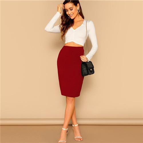 NOT GONNA CHASE YOU Burgundy Skirt - OutFancy
