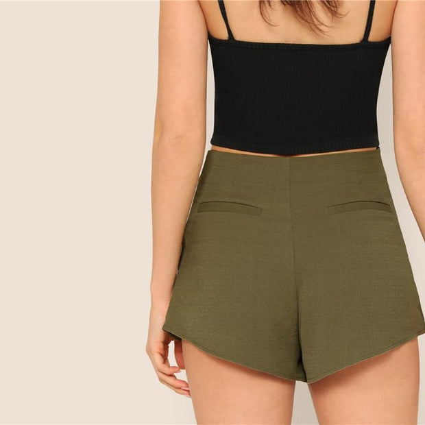 OutFancy Bow Tie Waist Shorts - OutFancy