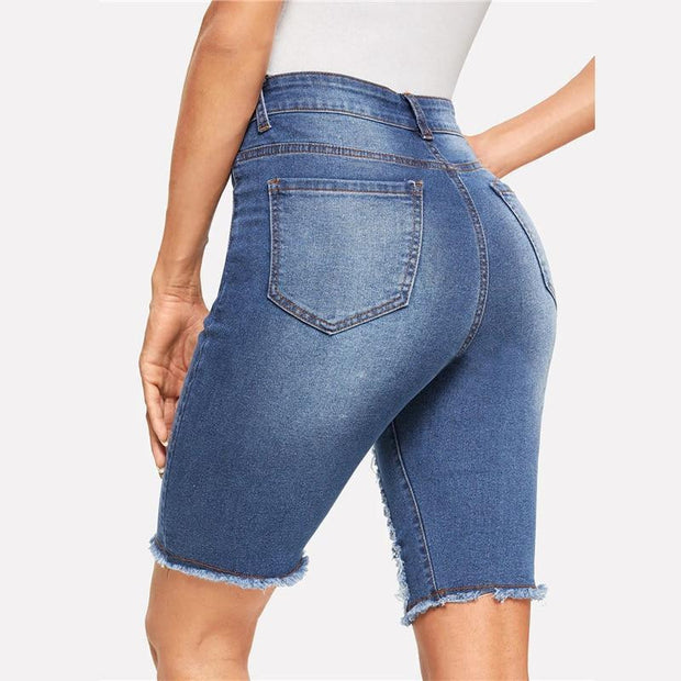 LOOKING LIKE A SNACK Denim Shorts - OutFancy