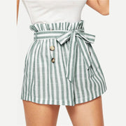 MUST BE NICE Striped Shorts - OutFancy