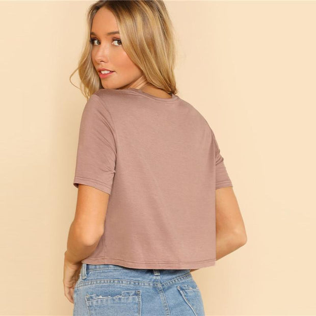 LOVE AND ATTENTION Camel Crop Top - OutFancy