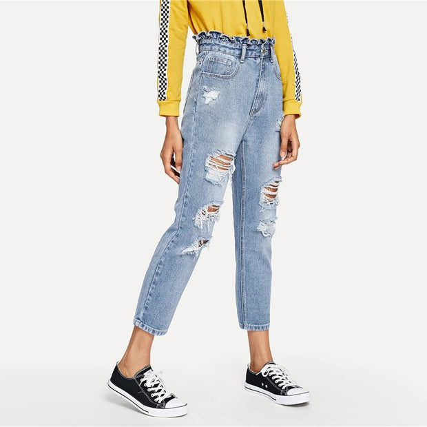 HANGING WITH THE BEST Distressed Jeans - OutFancy