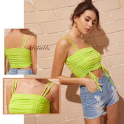 NEED YOUR LOVE Neon Yellow Cami Top - OutFancy